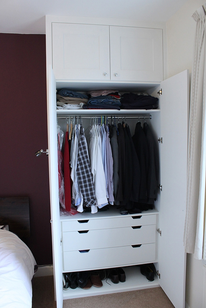 Traditional Fitted Wardrobe With Drawers Hand Painted Master properly within Wardrobes With Shelves And Drawers (Image 2 of 20)