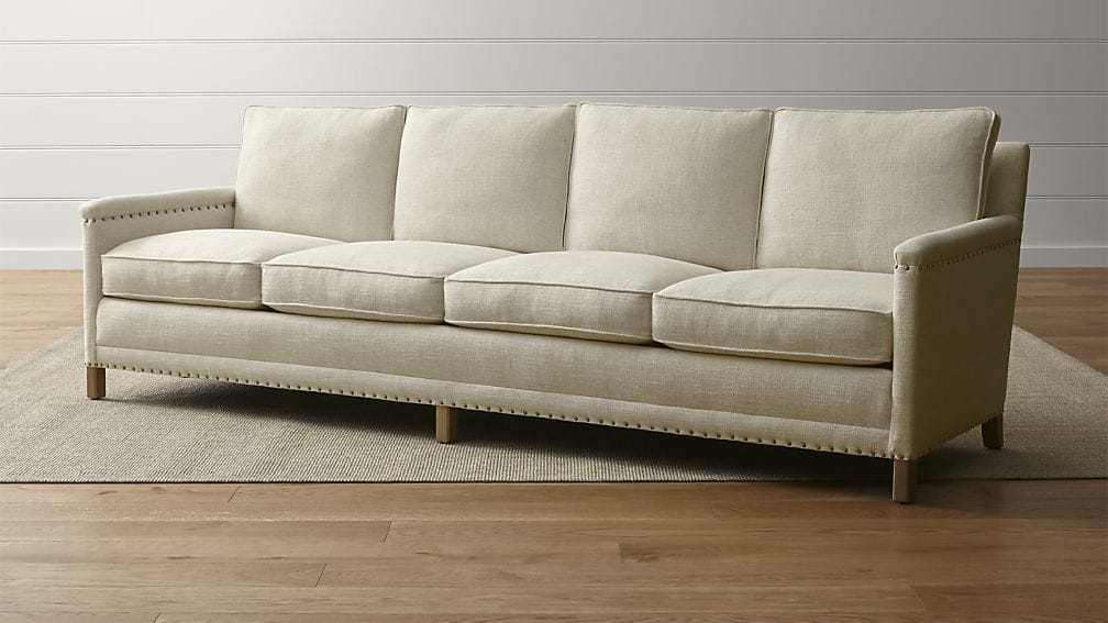 Trevor Oatmeal 4 Seater Sofa Crate And Barrel Certainly Inside 4 Seater Sofas (View 1 of 20)