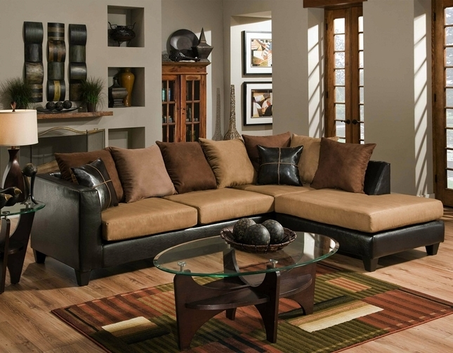 Tri Color Chocolate Brown Sectional Sofa Loose Pillow Back 4185 definitely regarding Chocolate Brown Sectional Sofa (Image 20 of 20)