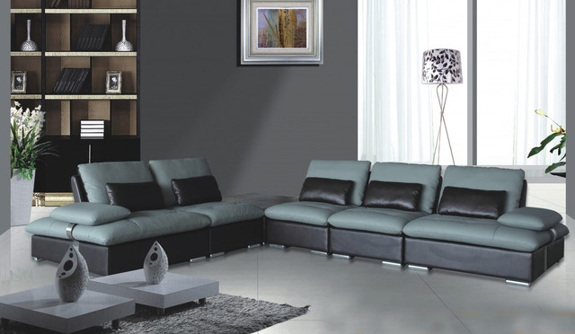 Two Tone Leather Sofa Sanblasferry properly in Two Tone Sofas (Image 19 of 20)