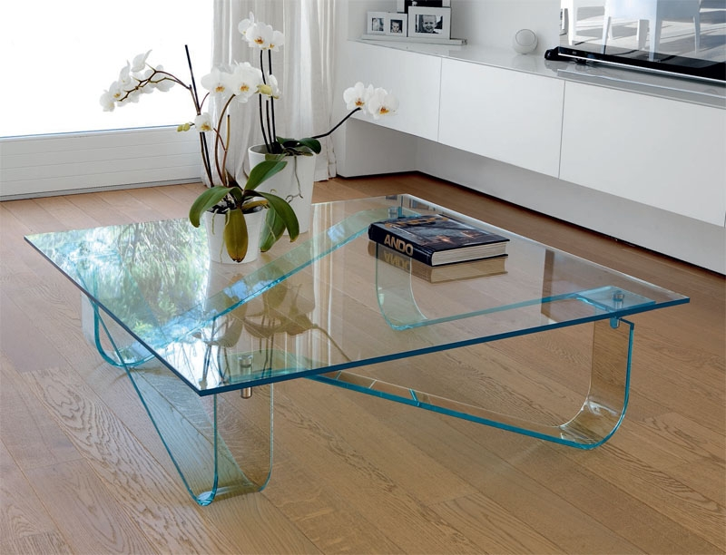 Unico Contemporary Glass Wind Coffee Table With Curved Legs definitely with Contemporary Glass Coffee Tables (Image 20 of 20)