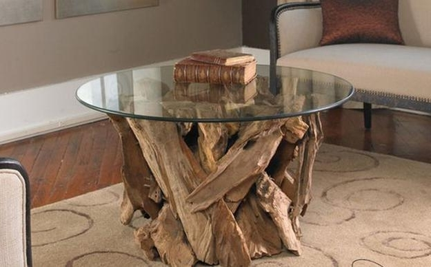 Unusual Glass Top Coffee Table Design In Eco Style effectively intended for Unusual Glass Coffee Tables (Image 5 of 30)
