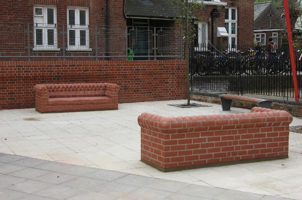 Upholstered Brick Sofas At Notre Dame High School Norwich Brick good within Brick Sofas (Image 20 of 20)