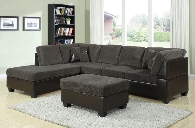 Uscanada L Shape Sofas In Dark Greysofa Set With Tablefabric Sofas Good With Regard To L Shaped Fabric Sofas (View 13 of 20)