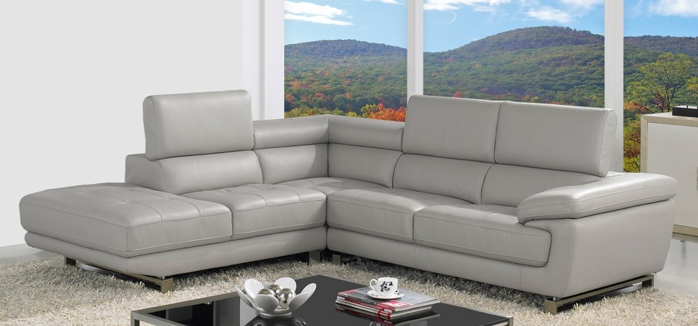 Valencia Corner Taupe Grey H8587lhf Leather Corner Sofas Sofas Properly In Corner Sofa Leather (View 20 of 20)
