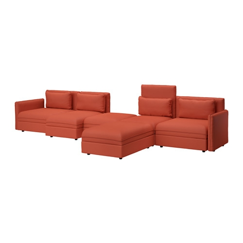 Vallentuna 5 Seat Sofa Orrsta Orange Orrsta Orange Ikea well throughout Orange IKEA Sofas (Image 20 of 20)