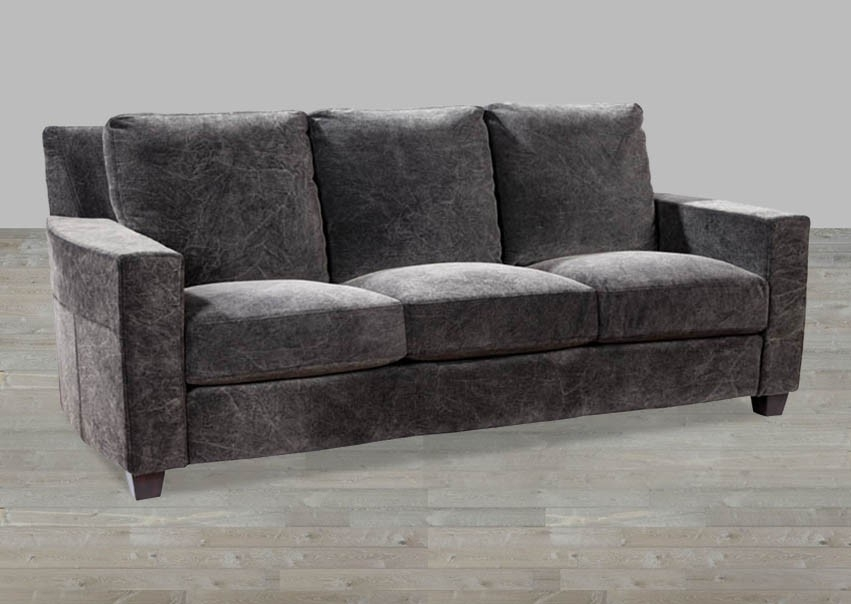Velvet Track Arm Style Sofa good regarding Black Velvet Sofas (Image 17 of 20)