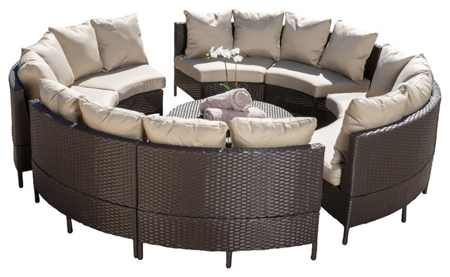 Venice 10 Piece Outdoor Sectional Set Contemporary Outdoor Properly Regarding 10 Piece Sectional Sofa (View 13 of 20)