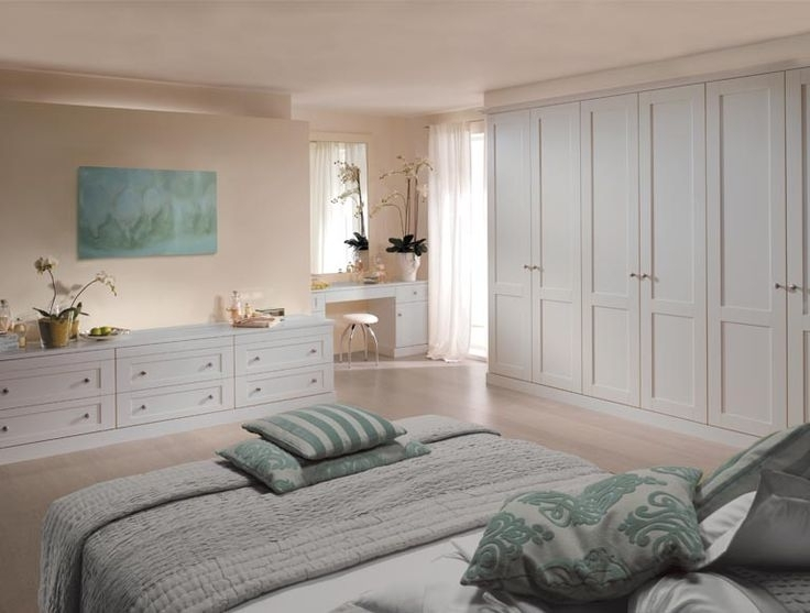 Verona Palace Grey Fitted Wardrobes With Matching Dressing Table perfectly pertaining to Drawers for Fitted Wardrobes (Image 29 of 30)