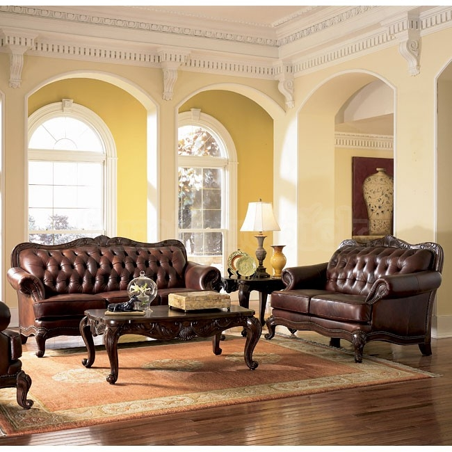 Victoria Leather Living Room Set Coaster Furniture Furniturepick nicely intended for Victorian Leather Sofas (Image 11 of 20)