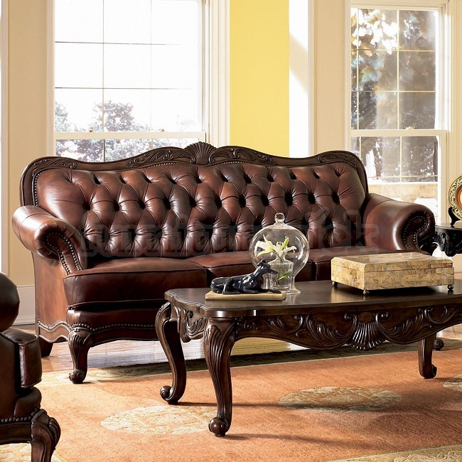 Victoria Leather Living Room Set Coaster Furniture Furniturepick perfectly pertaining to Victorian Leather Sofas (Image 12 of 20)