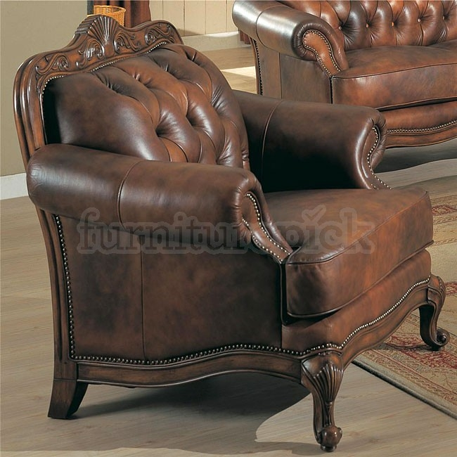 Victoria Leather Living Room Set Coaster Furniture Furniturepick perfectly regarding Victorian Leather Sofas (Image 13 of 20)