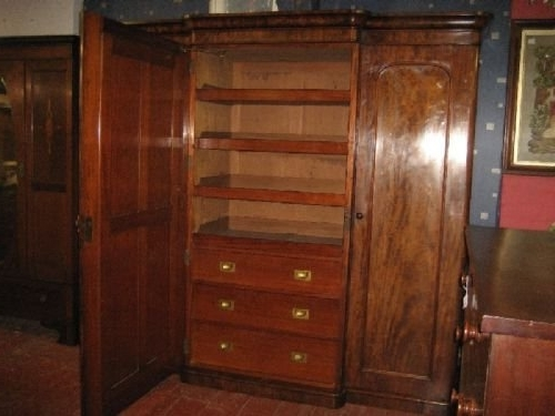 Victorian Mahogany Breakfront Wardrobe 172710 Sellingantiques perfectly with Breakfront Wardrobe (Image 20 of 30)