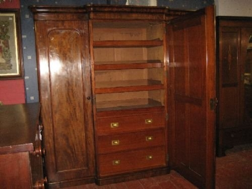 Victorian Mahogany Breakfront Wardrobe 172710 Sellingantiques very well in Victorian Mahogany Breakfront Wardrobe (Image 4 of 20)