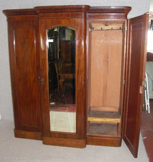 Victorian Mahogany Breakfront Wardrobe Antiques Atlas effectively with regard to Victorian Mahogany Breakfront Wardrobe (Image 7 of 20)