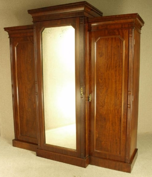 Victorian Mahogany Breakfront Wardrobe Circa 1870 281589 clearly intended for Breakfront Wardrobe (Image 12 of 30)