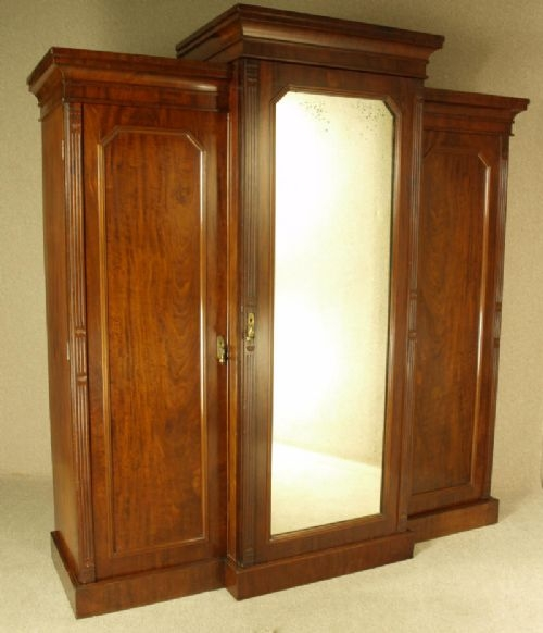 Victorian Mahogany Breakfront Wardrobe Circa 1870 281589 clearly pertaining to Victorian Mahogany Breakfront Wardrobe (Image 17 of 20)