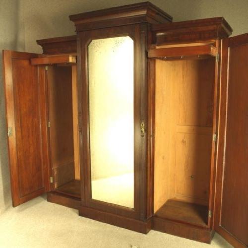 Victorian Mahogany Breakfront Wardrobe Circa 1870 281589 very well throughout Breakfront Wardrobe (Image 13 of 30)