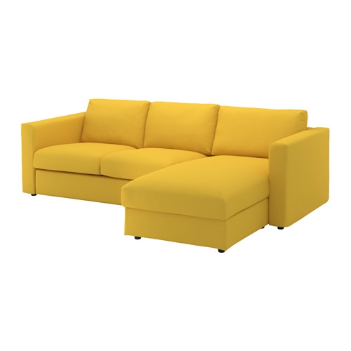 Vimle 3 Seat Sofa With Chaise Longuegrsbo Golden Yellow Chaise most certainly within Sofas With Chaise Longue (Image 20 of 20)