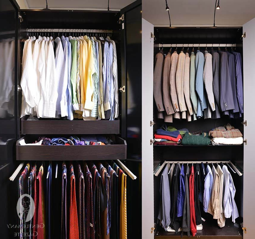 Walk In Closet Wardrobe Systems Guide Gentlemans Gazette most certainly within Double Rail Wardrobes Ikea (Image 4 of 30)