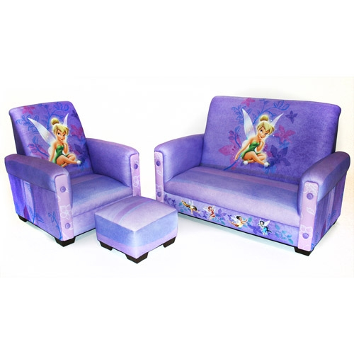 Walmart Disney Tinker Bell Fairies Toddler Sofa Chair And clearly with Toddler Sofa Chairs (Image 20 of 20)