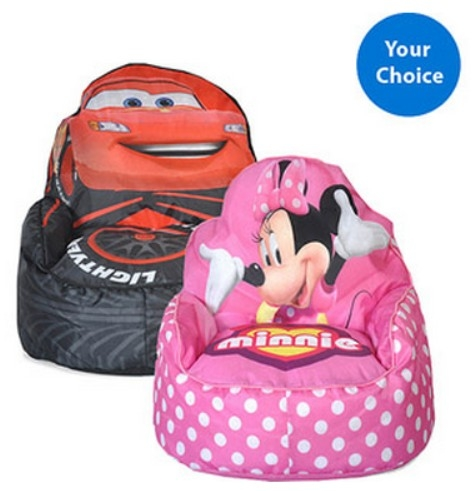 Walmart Disney Toddler Bean Bag Sofa Chair Just 1798 definitely inside Disney Sofa Chairs (Image 20 of 20)