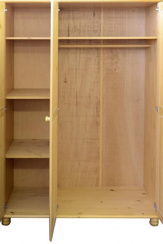 Wardrobes Budget Interiors Exeterbudget Interiors Exeter properly in Pine Wardrobe With Drawers and Shelves (Image 27 of 30)