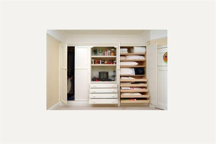 Wardrobes nicely pertaining to Oak Wardrobe With Drawers and Shelves (Image 23 of 30)