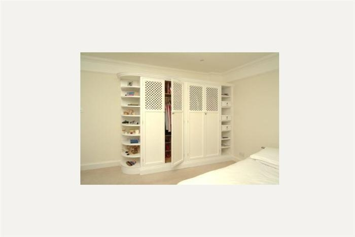 Wardrobes nicely throughout Curved Wardrobe Doors (Image 15 of 20)