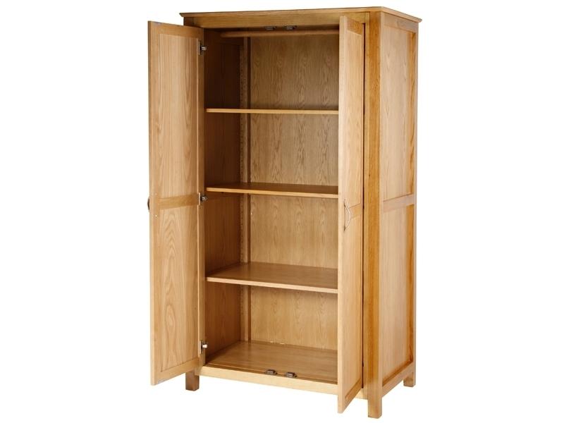 Wardrobes With Shelves Uk Farmhouse Oak 3 Door Triple Wardrobe good throughout Wardrobes With Shelves (Image 4 of 20)