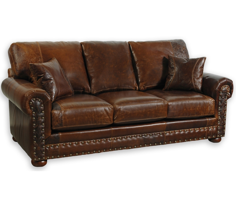 Western Sofas Western Leather Sofas Nicely With Regard To Full Grain  Leather Sofas (Image 20