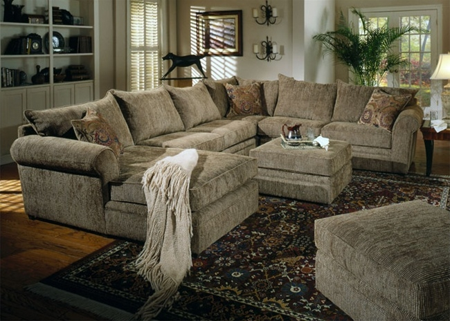 Westwood 4 Piece Chenille Sectional Coaster 501001 clearly in Chenille Sectional Sofas (Image 19 of 20)