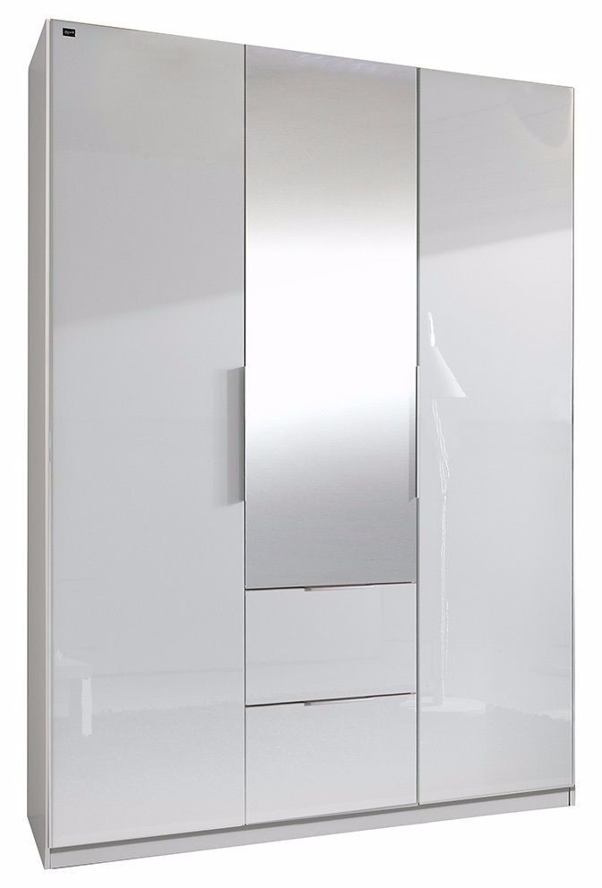 White High Gloss 3 Door Wardrobe 2 Drawers And 2 Hanging Rail And definitely with 2 Door Wardrobe With Drawers and Shelves (Image 28 of 30)
