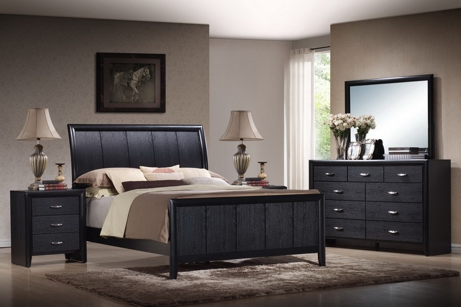 black bedroom furniture set 2018 popular wood sets 14566