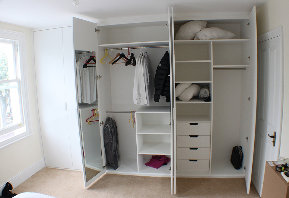 White Wall Wardrobe Designs For Bedroom Wall Units Design Ideas most certainly throughout Wall Wardrobes (Image 11 of 20)