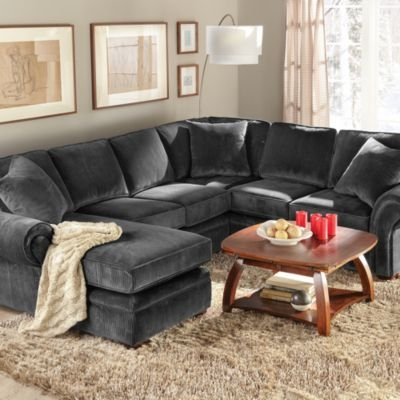 Wholehomemd Belleville Iv 3 Piece Sectional In A Left Hand very well in Craftsman Sectional Sofa (Image 20 of 20)