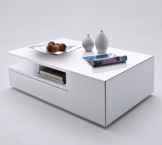 Wide Designs Of White Coffee Table With Storage Homesfeed definitely within White Coffee Tables With Storage (Image 18 of 20)