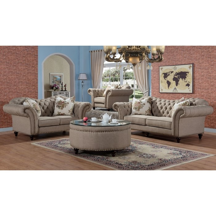 Willa Arlo Interiors Rohan Sofa And Loveseat Set Reviews Wayfair very well inside Sofa Loveseat And Chairs (Image 20 of 20)