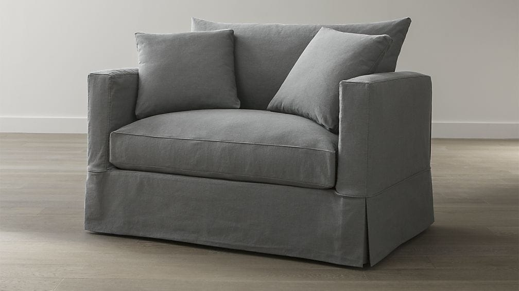 Willow Grey Twin Sofa Sleeper With Air Mattress Crate And Barrel certainly inside Loveseat Twin Sleeper Sofas (Image 18 of 20)