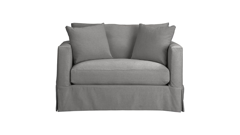 Willow Grey Twin Sofa Sleeper With Air Mattress Crate And Barrel good inside Twin Sleeper Sofa Chairs (Image 19 of 20)