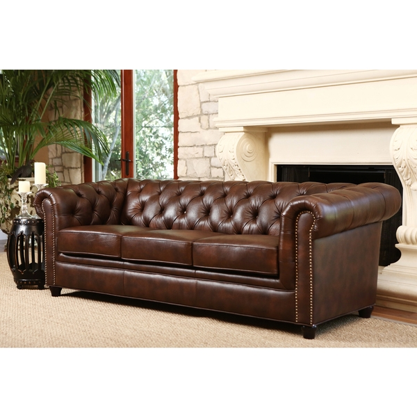 2017 Latest Tufted Leather Chesterfield Sofas