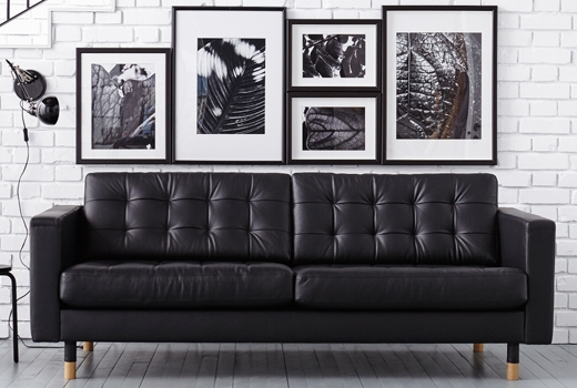 Wonderful Ikea Black Leather Sofa Ikea Kramfors Two Piece Leather clearly pertaining to Newport Sofas (Image 20 of 20)