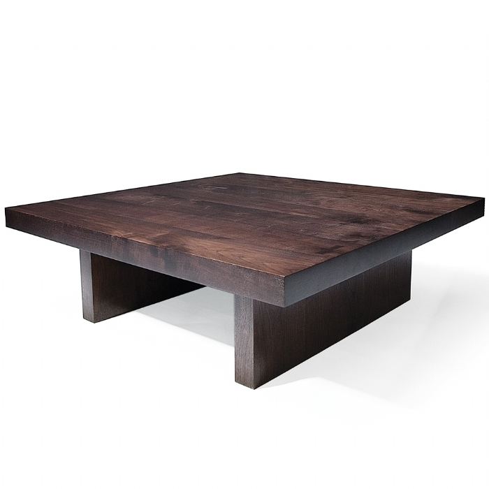 Wood Square Coffee Table Square Steel And Wood Coffee Table properly intended for Square Dark Wood Coffee Table (Image 20 of 20)