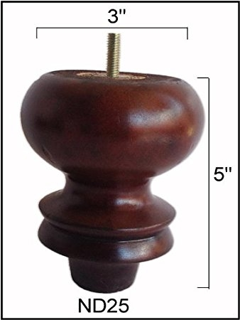 Wooden Sofa Legs Turned Feet Set Of 4 Furniture Legs Amazon very well in Wood Legs Sofas (Image 20 of 20)
