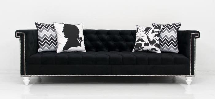 Wwwroomservicestore Sinatra Sofa In Black Velvet most certainly in Black Velvet Sofas (Image 19 of 20)