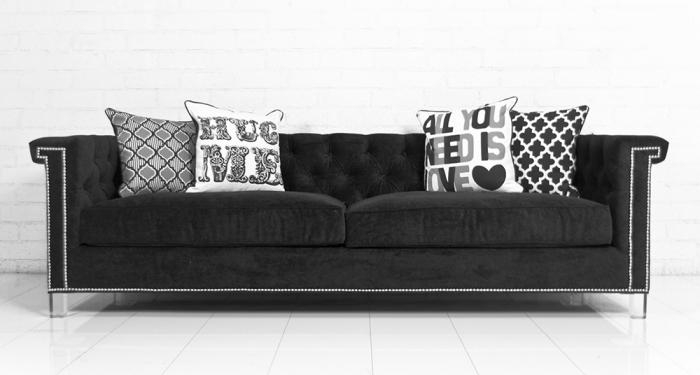 Featured Photo of Black Velvet Sofas
