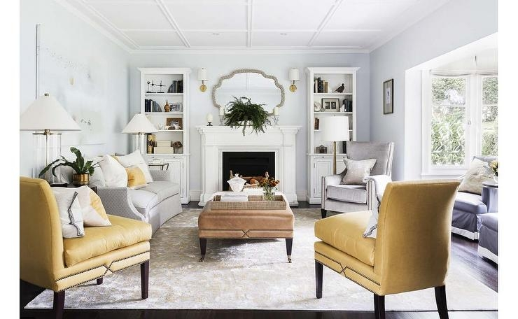 Yellow And Gray Accent Pillows Design Ideas effectively inside Yellow Sofa Chairs (Image 18 of 20)