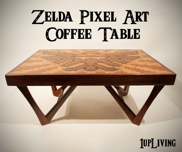 Zelda Pixel Art Coffee Table 10 Steps With Pictures effectively pertaining to Art Coffee Tables (Image 20 of 20)