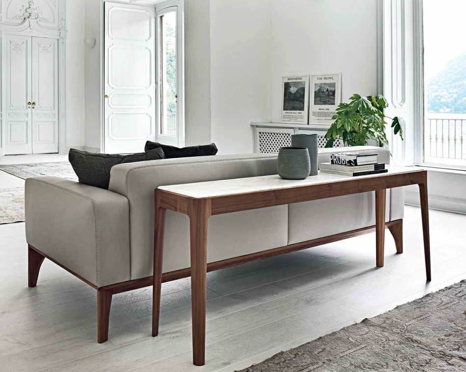Ziggy 4 Sofa Back Console Italian Designer Luxury Furniture At clearly in Sofas With Consoles (Image 20 of 20)