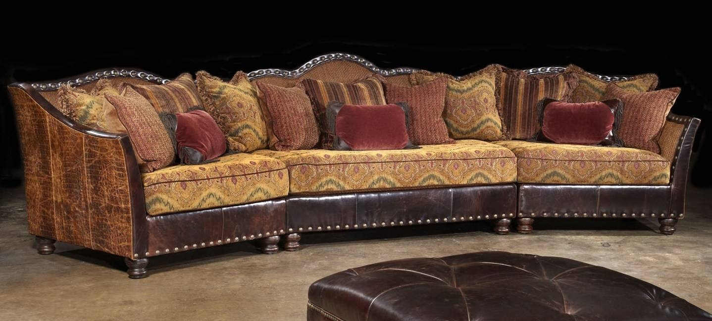 01 Western Furniture. Custom Sectional Sofa, Chairs, Hair Hide Ottoman regarding Sofa Chair With Ottoman (Image 1 of 30)